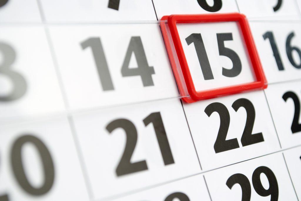 Calendar home page